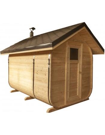 nuožulnaus stogo sauna