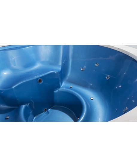 Naujas 180cm stiklo audinio kubilas perlo mėlynos spalvos!